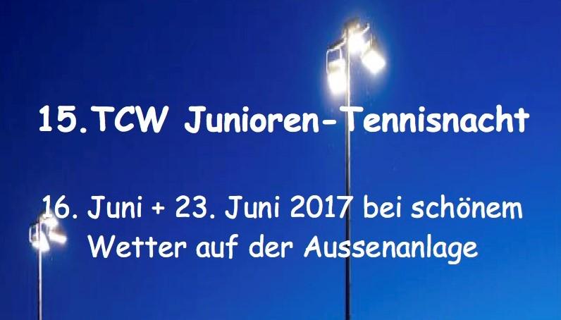 15. Tennisnacht der Junioren und Schüler 2017